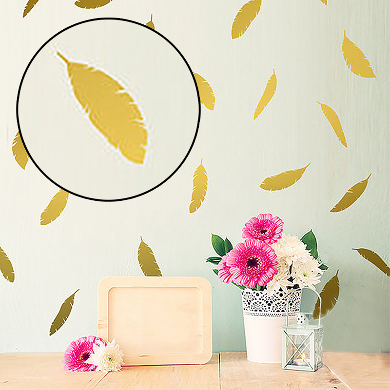 DIY Decals Home Decoration Feather Wall Stickers Art Stickers Children Room