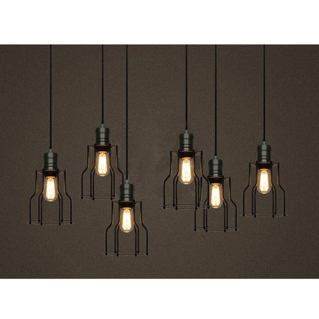 Online Shop Industrial Pendant Lights Black Iron Large Lighting Bar - Led light bar for kitchen ceiling