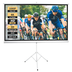 Neewer 100-inch 16:9/4:3 Projector Screen with Stand, Indoor Outdoor Foldable Portable Projection Screen 8K/4K HD