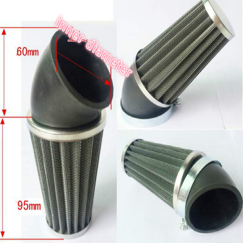 Bevel Mouth Motorcycle Air Filter Motorcycle Waterproof Modified Mushroom Head Large Flow 35 38 42 48-50 58-60MM Free Shipping