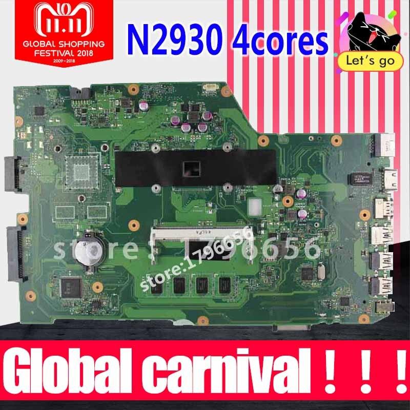 4 ядра X751MA материнской N2930 4G RAM X751MD REV 2,0 для ASUS X751MA X751MD X751M материнской X751MA материнская плата полностью проверена