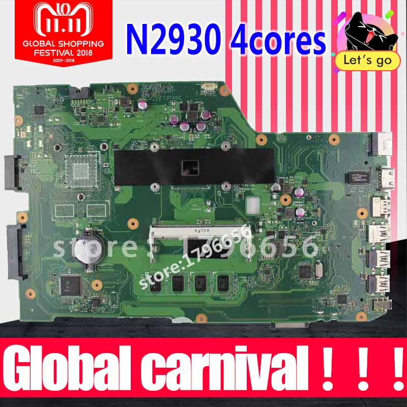 r752md motherboard x751md rev2 0 mainboard k751m k751ma x751ma r752m processor n3530 with 4g memory on board gt 820m 1g tested 4 cores X751MA Motherboard N2930 4G RAM X751MD REV 2.0 for ASUS X751MA X751MD X751M motherboard X751MA Mainboard fully tested