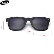 b77ace0a1b35a VEGA Polarized Clip On Sunglasses Over Prescription Glasses With Box Fit  Over Glasses Sunglasses Flip Up Clips 5840