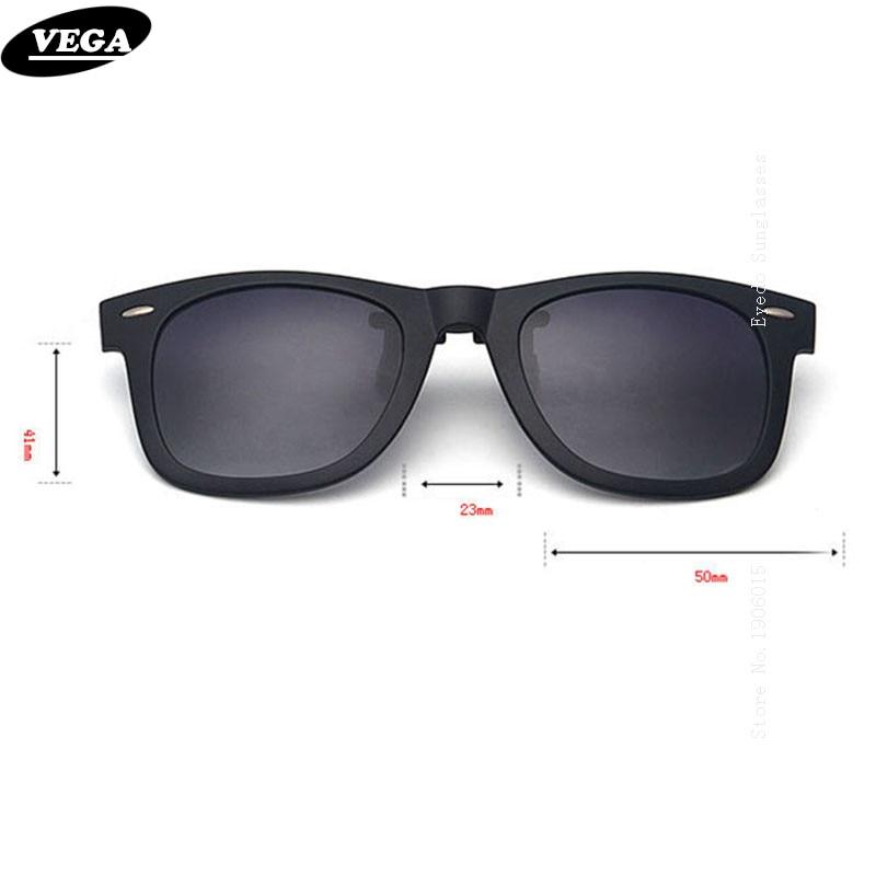 VEGA polarizált klip napszemüvegen a vényköteles szemüveg felett dobozos illesztéssel szemüveghez Napszemüveg Flip Up klipek 5840