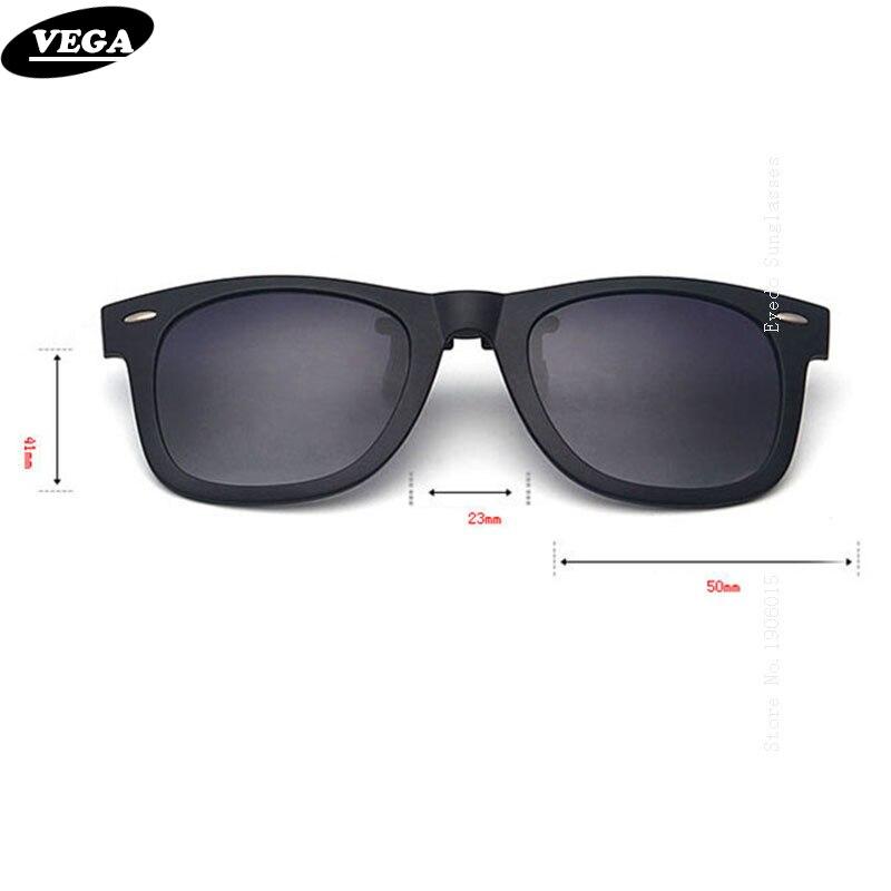 VEGA Polarized Clip στα γυαλιά ηλίου πάνω από τα γυαλιά συνταγών με το κιβώτιο Fit πάνω από τα γυαλιά γυαλιά ηλίου Flip Up Clips 5840