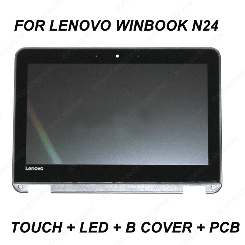 11 6LCD Touch Screen Digitizer assembly Panel Frame for Lenovo WinBook N24 BEZEL MATRIX 30pin 81AF0003US