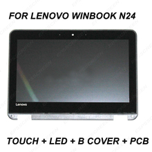 11.6LCD Touch Screen Digitizer assembly Panel+Frame for Lenovo WinBook N24 BEZEL MATRIX 30pin 81AF0003US N116BCA EA1 B116XAN04.0