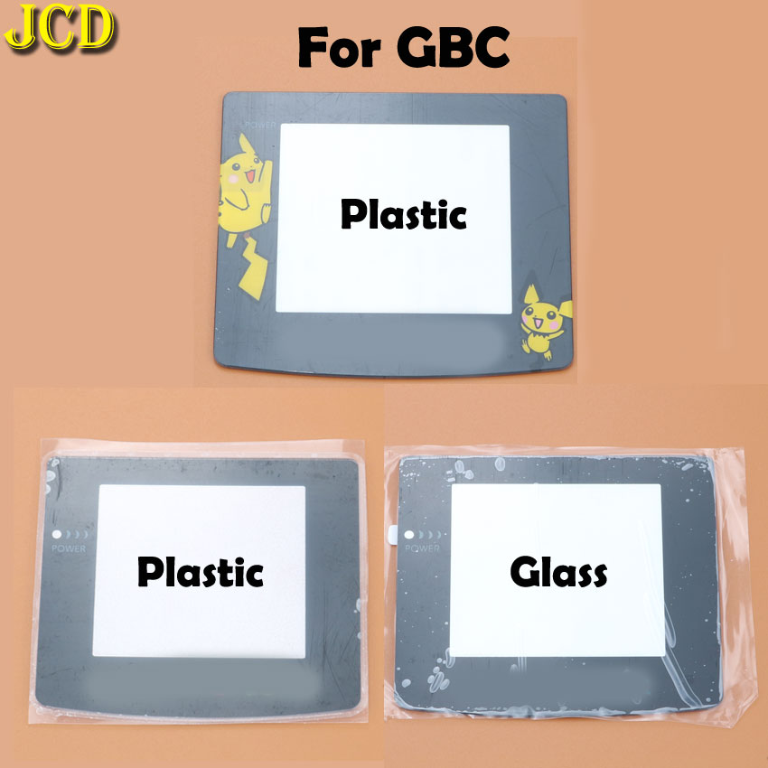 JCD 1pcs Plastic Glass Lens For GBC Screen Lens Cover For Gameboy Color Lens Protector W/ Adhensive