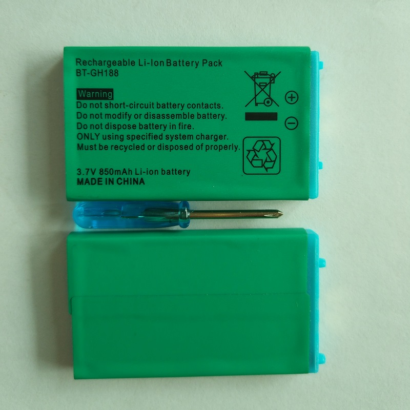 2 Pieces/Lot 850mAh Battery for Nintend GBA SP GameBoy Advance 3.7V Li-Ion Lithium Rechargeable Batteries Wholesale