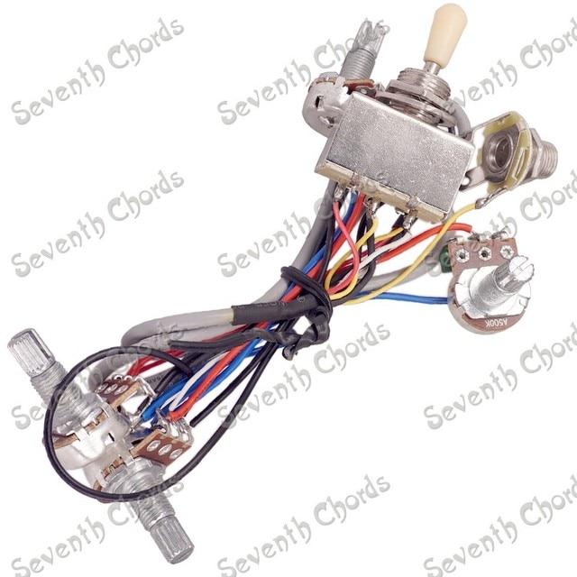 a set guitar wiring harness prewired 2 volumes 2 tones 4 500k pots rh aliexpress com