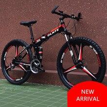 LOVELION Mountain Bicycle Carbon Steel Frame 21/24/27 Speed 26 Inch Wheel Disc Brake Folding Bike Outdoor Sport Bicicleta все цены