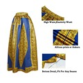 Mulheres da moda vintage 6 cores chic circle diamante africano flor impressão maxi saia 2016 bola senhora saias longas plissadas vestido