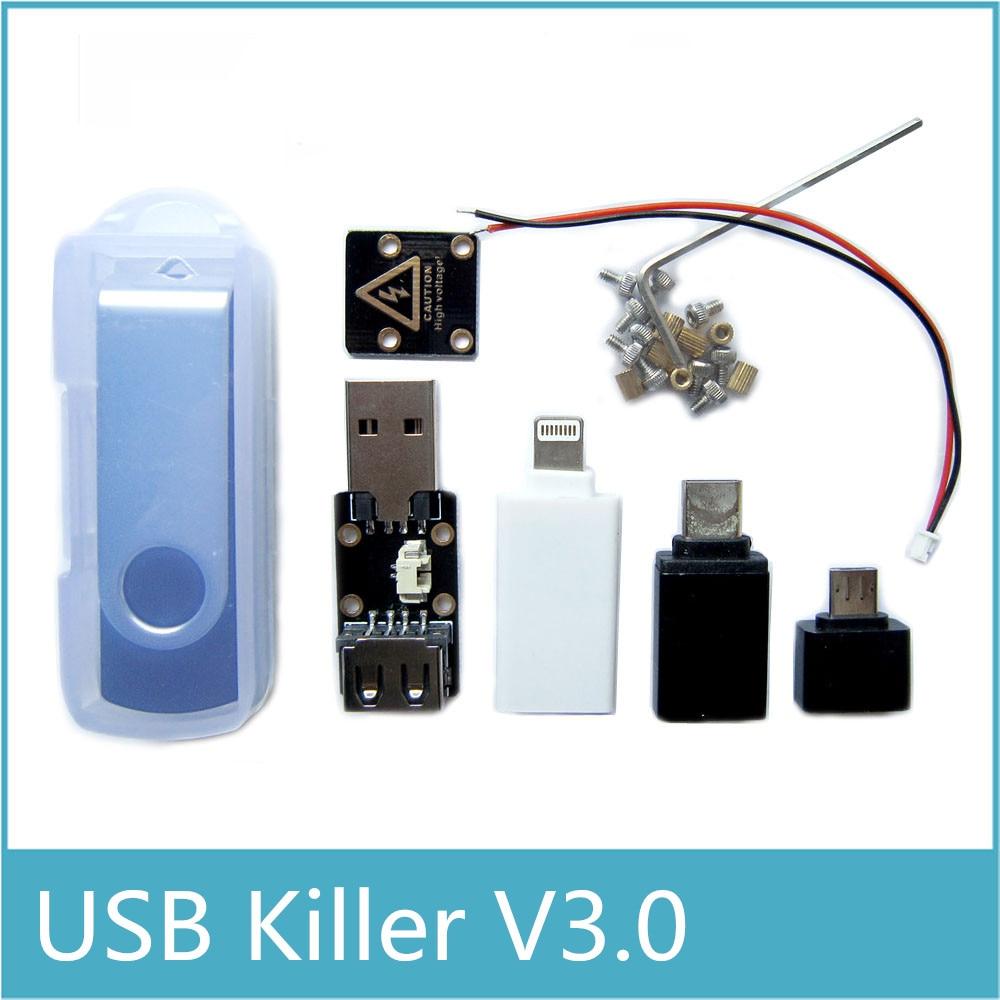 Latest Upgraded USB Killer V3.0 USBKiller3.0 U Disk Killer Miniature High Voltage Pulse Generator Accessories Complete