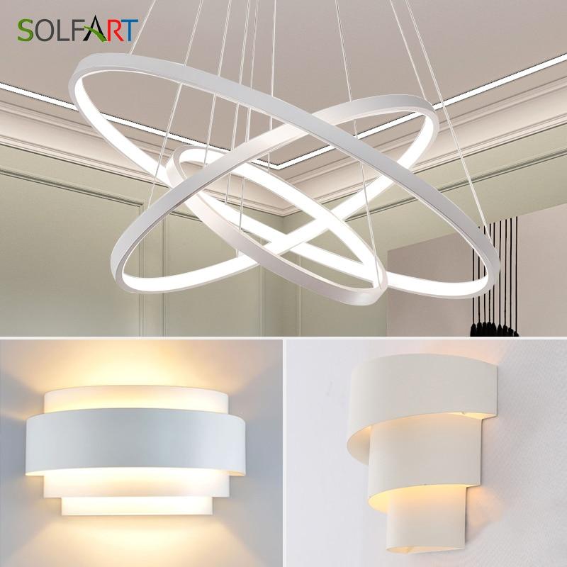 LED modern pendant light for kitchen loft lighting fixture loft lamp lamparas and wall lamp combination