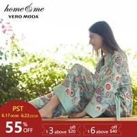 Vero Moda Women's Vintage Elasticized Tie Wide leg Print Lounge Pants|3181P7506