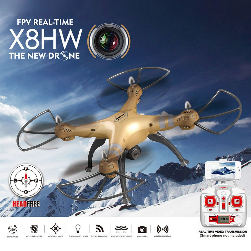 Syma X8HW RC Drone WIFI FPV 0.3MP Camera 2.4GHz 4CH 6 Axis Gyro Quadcopter Headless Mode Barometer Set Height RTF Helicopter