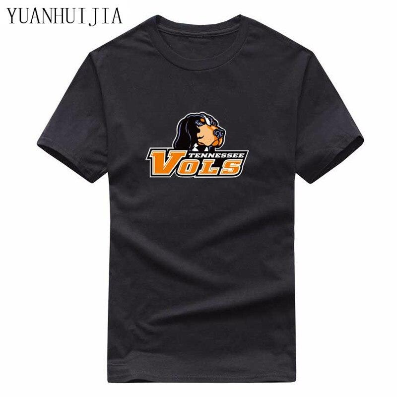 YUANHUIJIA fashion 2017 font b men s b font T shirt men TENNESSEE printed cotton T
