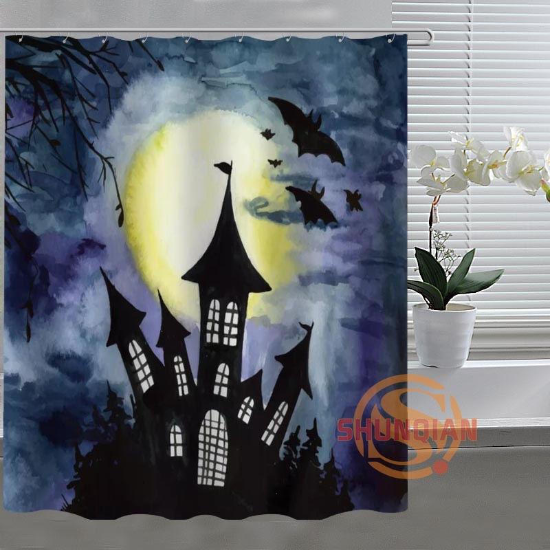 Halloween Horror Custom Shower Curtain Bathroom Fabric For Bathroom Decor Bathroom Curtain Acceptable Custom H03b26n59
