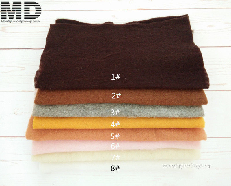 Wool felt blanket photo prop,Basket stuffer woolen mat,basket filler photography props