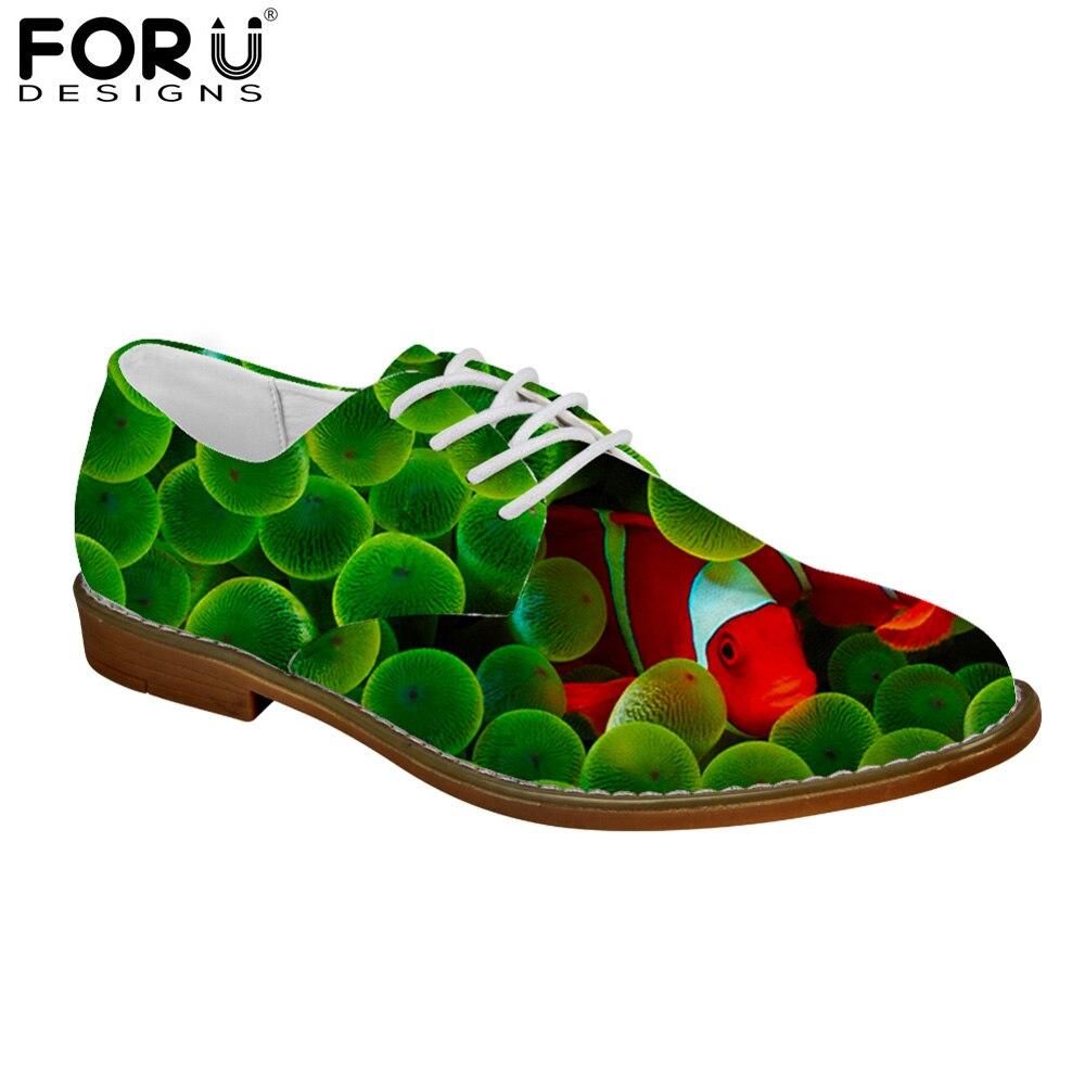 100% Wahr Forudesigns 3d Niedlichen Tier Fisch Muster Oxfords Schuhe Für Männer Frühling Mode Kleid Schuhe Wohnungen Herren Leder Schuhe Mann Casual QualitäT Und QuantitäT Gesichert