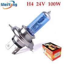 24 В H4 100 Вт супер яркий противотуманный светильник s галогенная лампа высокой мощности, головной светильник, автомобильный светильник, источник света для парковки, белый 100/90 Вт