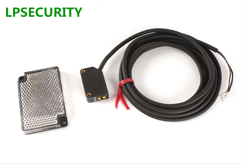 LPSECURITY 24VDC NPN MAX 2.5M Detection IR Sensors/reflective Photocell Sensor Proximity Switch Automatic Gate Door Use