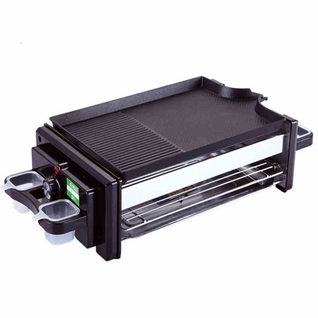 BBQ Household electric oven smokeless barbecue oven and Teppanyaki