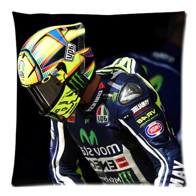 Custom Cushion Cover Valentino Rossi Cotton Linen Pillow Case Chair