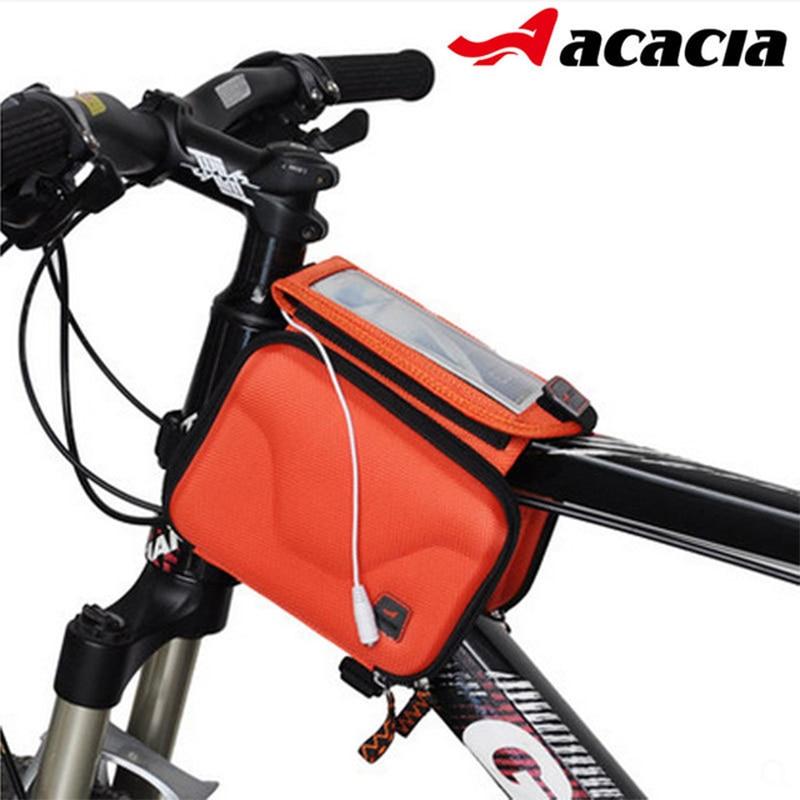 Vízálló kerékpár első cső táskák érintőképernyővel hegyi út kerékpár felső első cső váz táska kerékpáros nyeregtáska kerékpár felszerelés