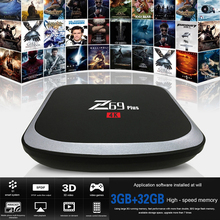 Z69 Plus Smart Android 6.0 TV Box Amlogic S912 VP9 H.265 UHD 4K 3g32g 2G16G Mini PC 2.4G 5G WiFi  Bluetooth 4.1 HD Media Player