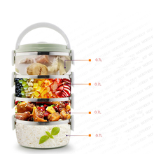 1-4 Layer Large Stainless Steel Food Container Storage