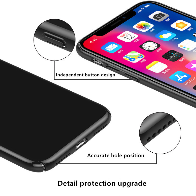 Luxury Case For iphone X 7 8 Plus 10 Tempered Glass Hard PC Hybrid Armor Cases For iphonex 10 Anti Knock Protective Phone Cover (6)