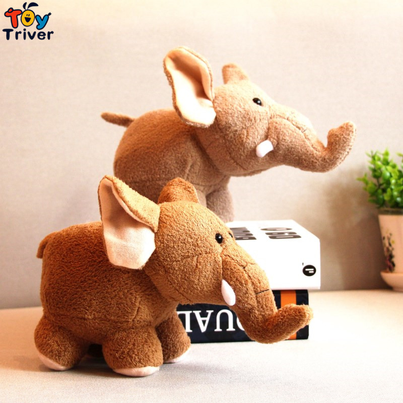 20cm Simulation Soft Plush Rhino Elephant Toy Stuffed Doll Toys Wild Animals Children Kids Baby Student Special Gift Triver african elephant