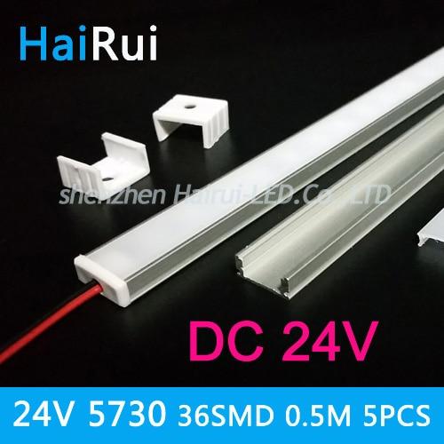 DC24V strip led 5730 5PCSX50cm LED Bar Light  36LEDs Kitchen  light