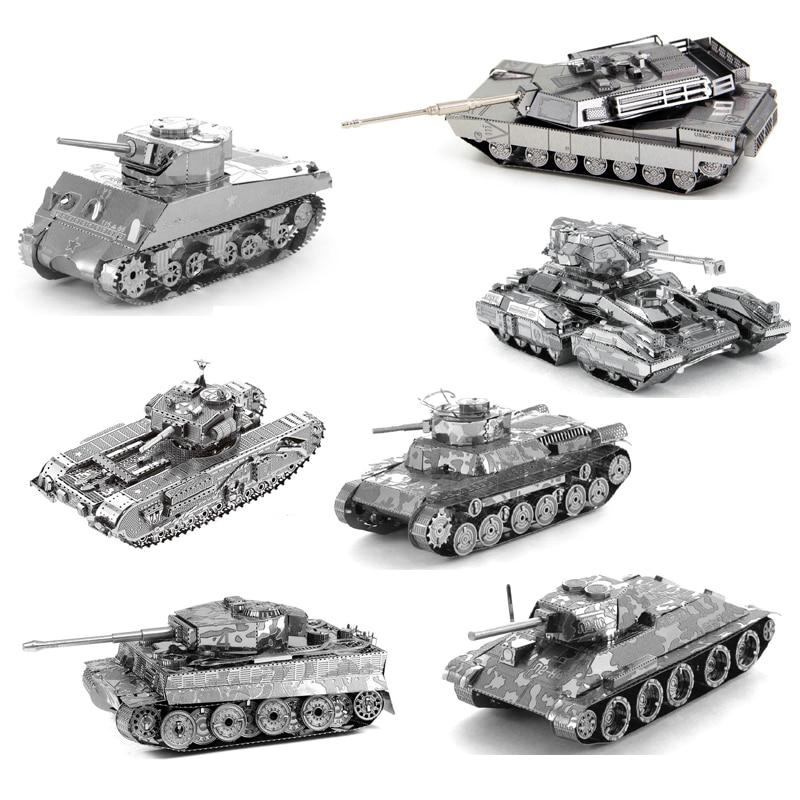 3D Metal Puzzle Mini Tank Model Assemble Toys for Military Fan