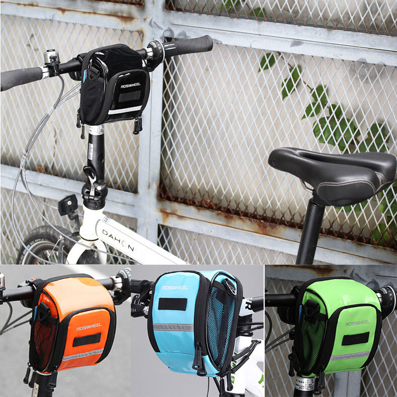 2018 New Cycling Bike Bicycle Waterproof PU Handlebar Bag Shoulder Bag 4Colors