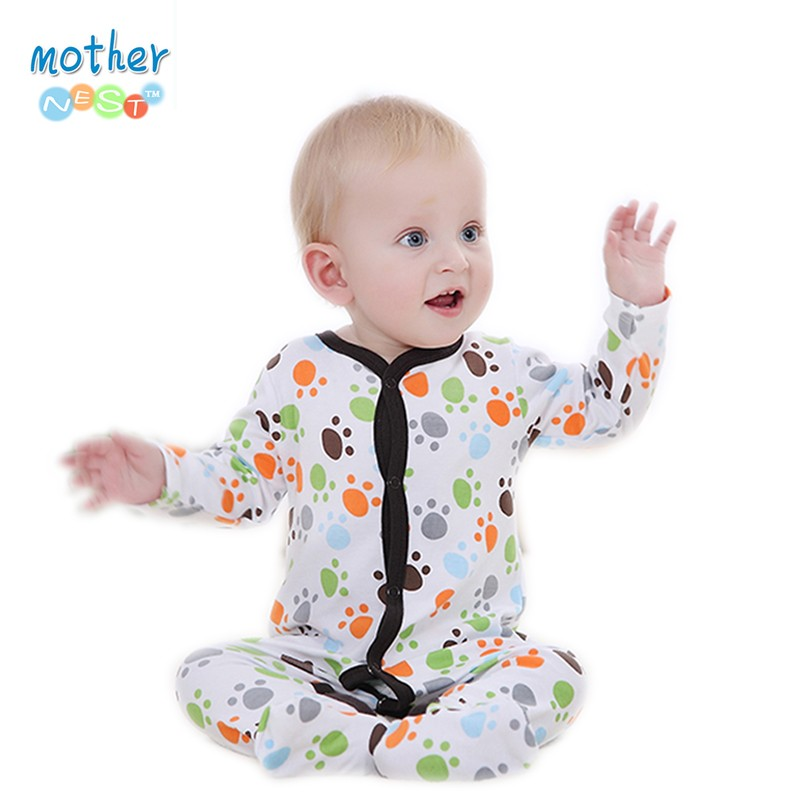 2016 Baby Clothes Little Bear Cute Baby Rompers Cotton Body Ropa Long Sleeve Infant Boys Girls Spring Summer Jumpsuit (1)