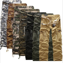 28-40 Plus measurement Men Cargo Pants Winter Thick Warm Pants Full Length Multi Pocket Casual Military Baggy Tactical Trousers 2017