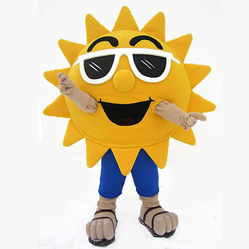 Publicité Cosplay été Cool soleil Mascotte Costume Costume personnage de bande dessinée Mascotte partie jeu fantaisie robe Halloween adulte