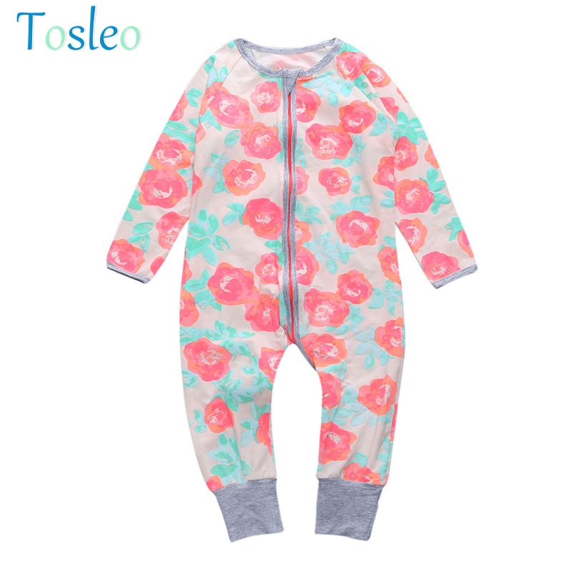 2018 Baby Girl Rompers Floral Lovely Kids Clothe Newborn Baby Girl Clothes Children Summer Costumes