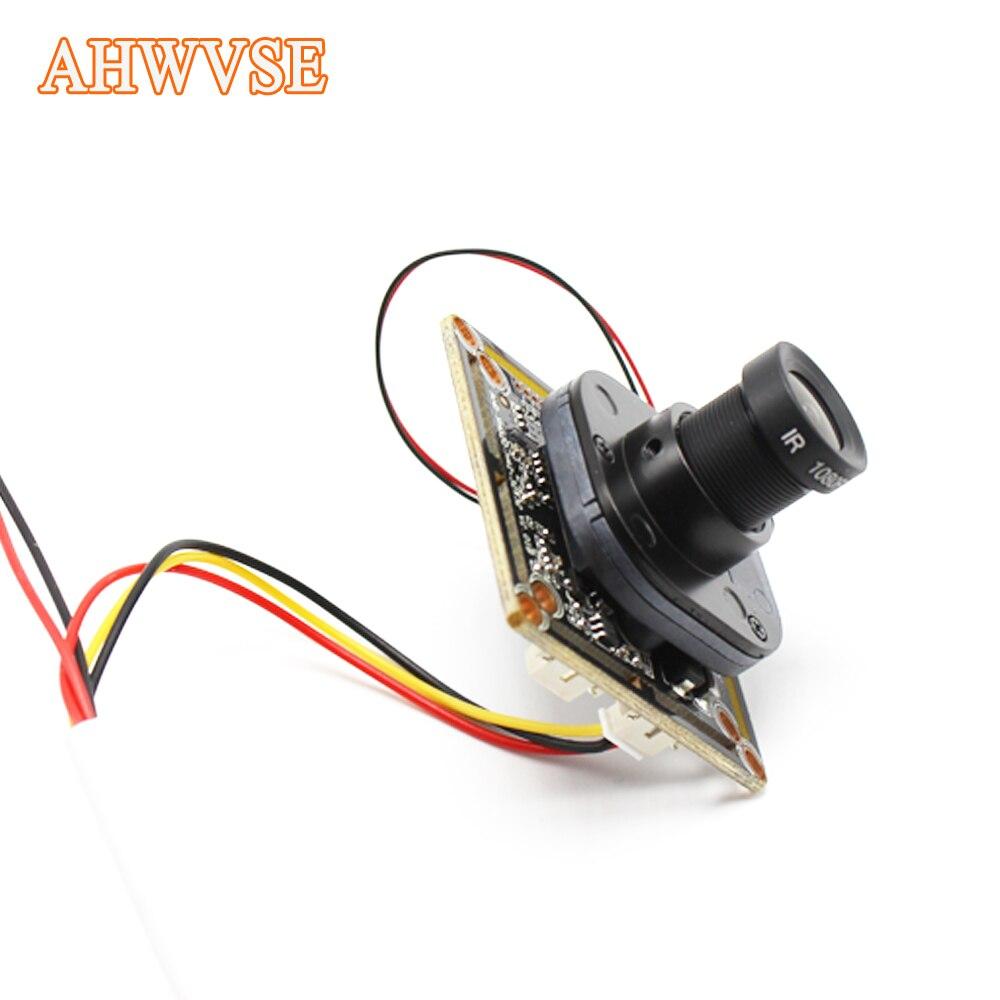 Faible éclairage AHD Caméra Module Conseil PCB SONY IMX323 2000tvl AHDH 1080 P IRCut Vision Nocturne M12 Lentille CCTV de Sécurité