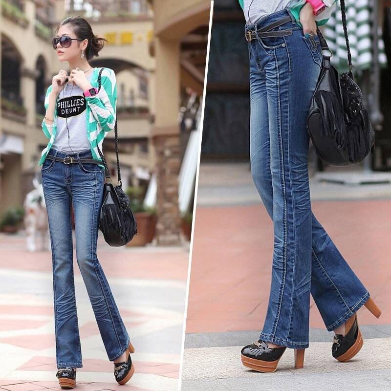 New 2017 famous brand jeans women s jeans cotton trousers Fashion denim pants women jeans