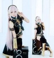 Vocaloid Megurine Luka Costume Uniform Black Cosplay Costume For Women