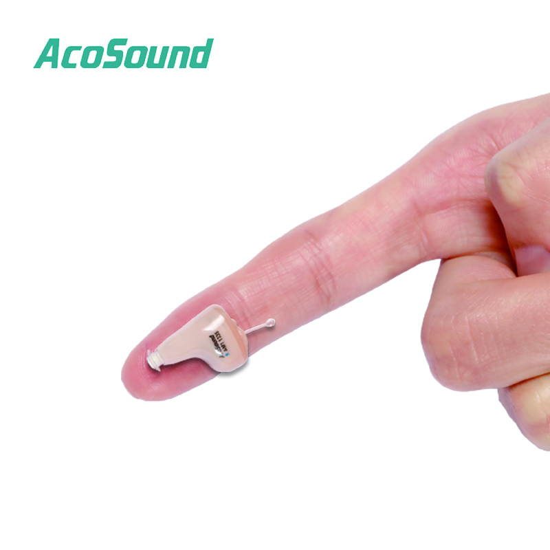 AcoSound Hearing Aids 210IF Digital Invisible CIC Hearing Aid Mini In Ear Sound Amplifier Programmable Best Hearing Device acosound mini invisible cic hearing aid 210if digital hearing aids for the elderly with earplugs in the ear sound amplifier