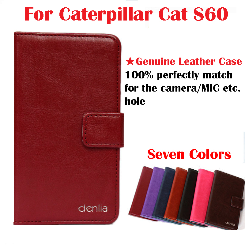 Caterpillar Cat S60 Case,High Quality Genuine Flip Leather Phone Case Cover For Caterpillar Cat S60 Real skin Case Free Shipping