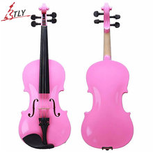 TONGLING Brand 4/4 Student Violin Pretty Pink Maple Beginners Acoustic Violin with Steel String Arbor Bow Carrying Case