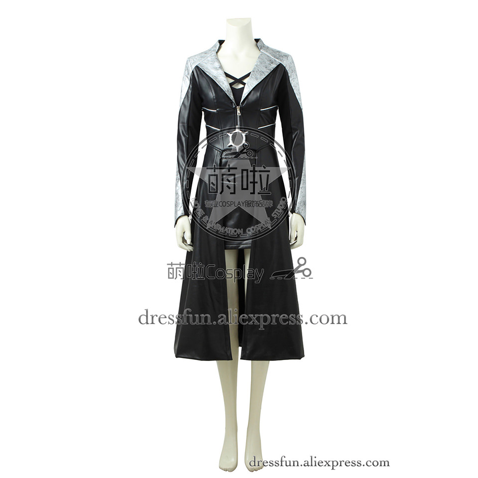 The Flash Season 3 Cosplay costumes Killer Frost Caitlin Snow costume clothing uniform Black Coat Halloween Fast Shipping