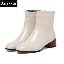 {Zorssar} 2017 NEW arrival fashion leisure Flat heel Women Chelsea Boots Square toe flats ankle boots autumn winter female shoes