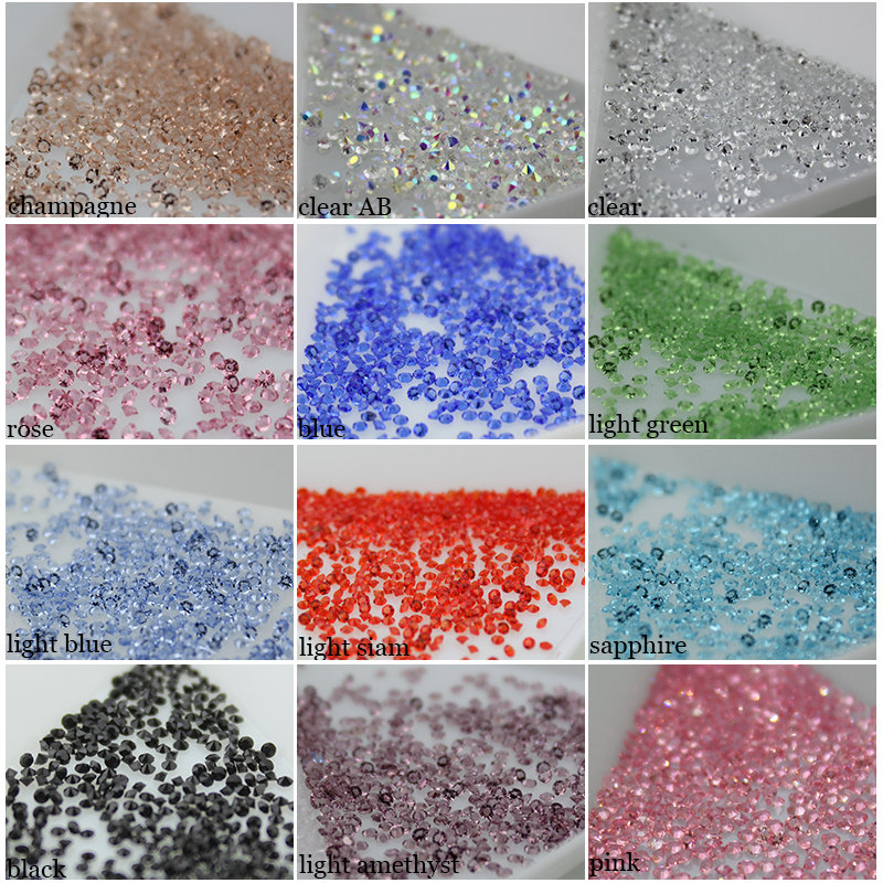 Tiny Mini rhinestone New Crystal 3D Nail 1.3-1.5mm Nail Rhinestones Decoration DIY nail art about 1440pcs/pack pixie rhinestone