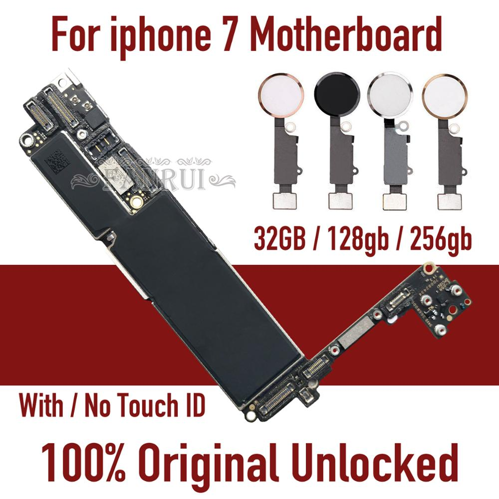 Factory Unlocked For IPhone 7 Motherboard With / Without Touch ID,Original For Iphone 7 Mainboard With Chips,32GB 128GB 256GB